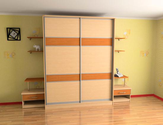 шкаф купе в 3D Studio Max фото