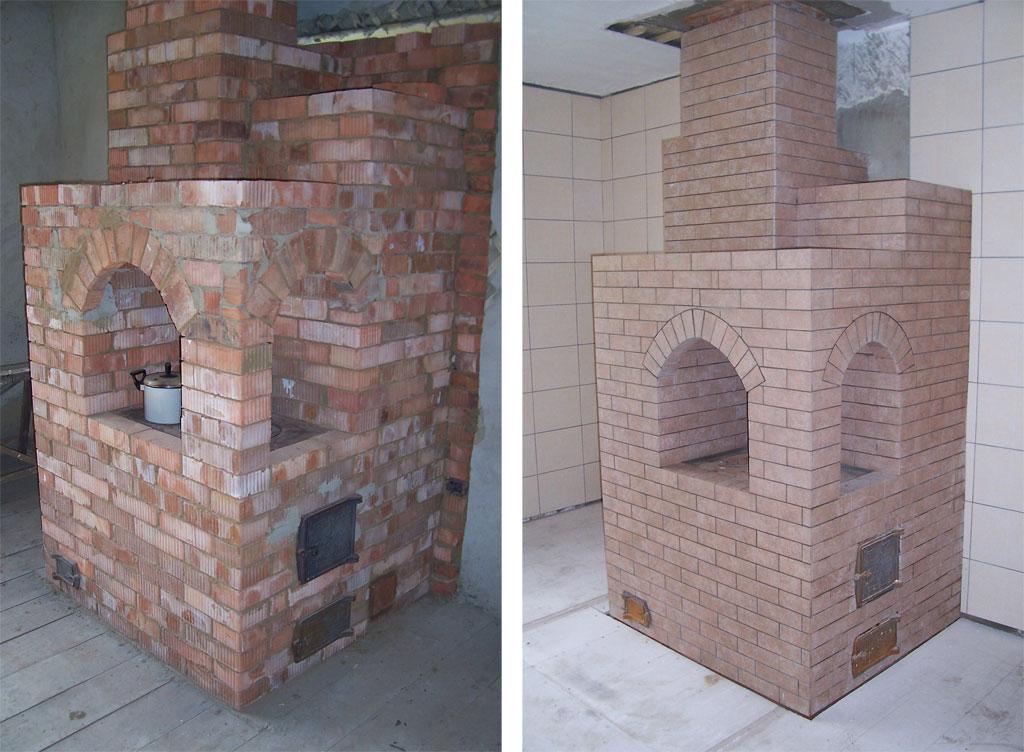 Отделка печей и каминов фото